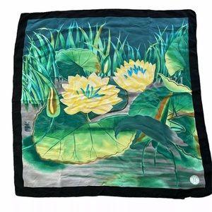 Vintage Fendi Roma Silk Scarf Floral